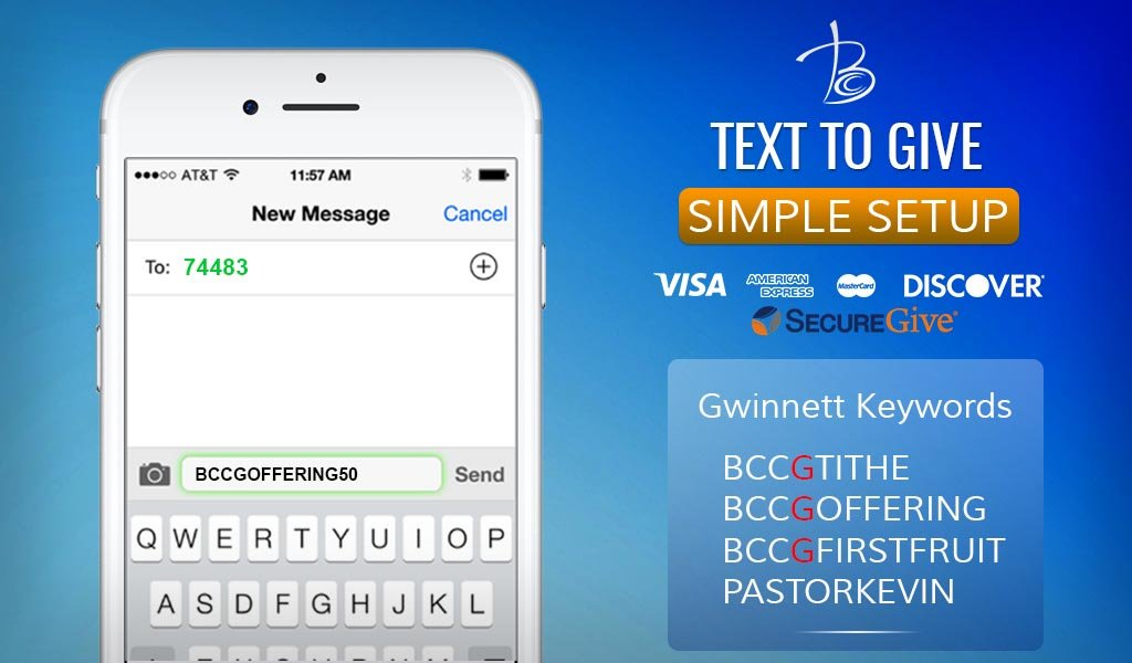 Berean Gwinnett Text to Give