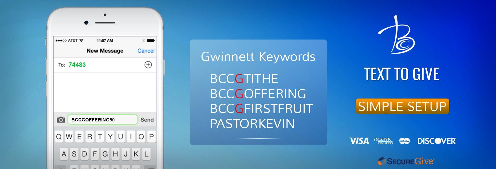 Berean Gwinnett Text to Give